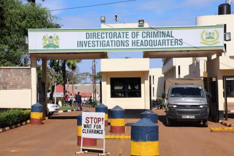 Headquarters of the Directorate of Criminal Investigations along the Kiambu road