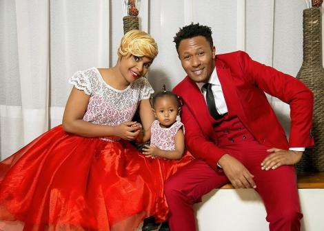 File image of DJ Mo and Size 8 with their child