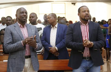 Deputy President William Ruto fellowships at the Friends Church (Quakers) in Lang'ata, Nairobi on Sunday, March 15, 2020.