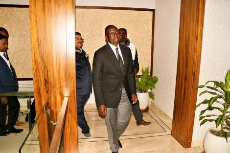 DP William Ruto takes a tour inside Kesses MP Mishra Swarup's mansion.