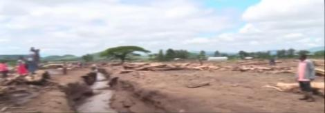 Naivasha residents count loses after a dam burst in the region on Friday, May 1, 2020