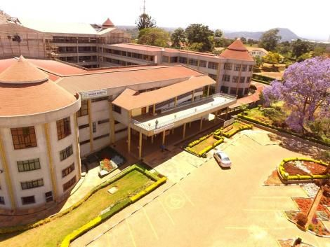 A building inside Dedan Kimathi University of Technology in Nyeri.