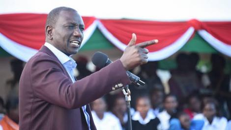 Deputy President William Ruto speaking at a rally in December 2020