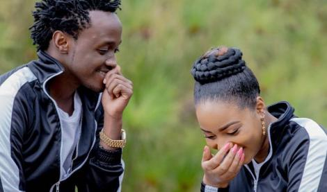 Bahati pictured with his partner Diana Marua
