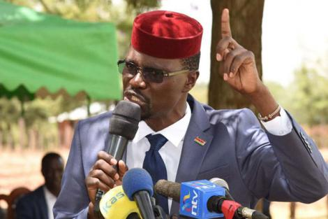 Kimilili MP Didmus Barasa during a fundraiser in aid of Kimoson Africa Inland Church in Kapsaret Constituency of Uasin Gishu County on March 3, 2019.