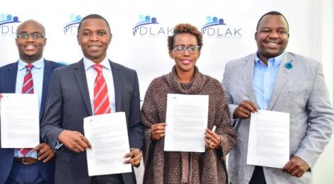 Members of Digital Lenders Association of Kenya during its launch.