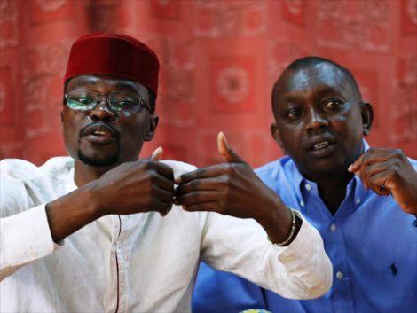 Didmus Barasa and Sudi at a press conference