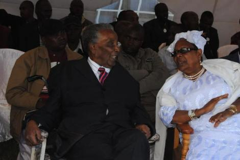 The late Narok North MP, William Ole Ntimama with his wife Dorcas at a past function.