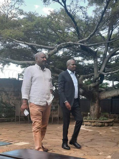 Gatundu South Moses Kuria with KANU General Secretary Nick Salat on May 1, 2021