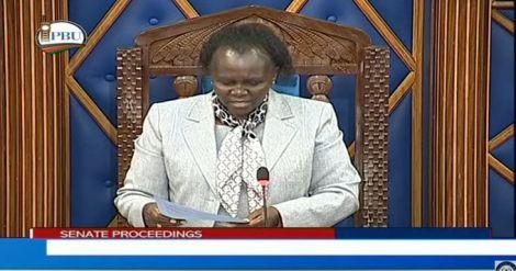 Senator Margaret Kamar's Deputy Speaker in a sitting in the Upper House on Thursday, July 22, 2021