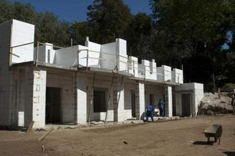 EPS panels houses under construction in Kenya.