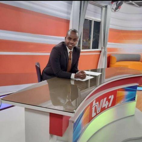 Acting TV47 CEO Abubakar Abdullahi in studio