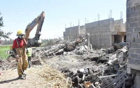 Rescue efforts during the collapse of a building in Mamboleo Area , Kisumu County September 13 2021