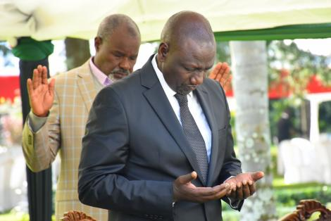 Deputy President William Ruto at the burial of Mzee Tarus in Nandi County on July 3, 2020