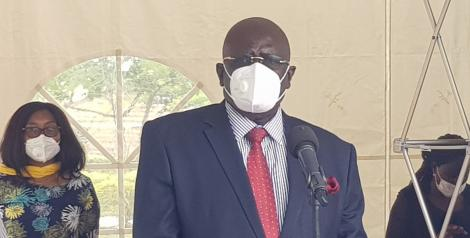 Education Cabinet Secretary George Magoha pictured in Kisumu on August 9, 2020.
