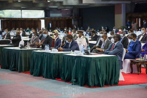 Delegates at the National Covid-19 Conference at KICC on September 28, 2020