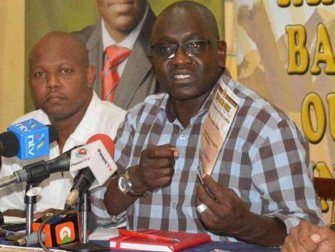 Thirdway Alliance Kenya party leader Ekuru Aukot at a Mombasa hotel on October 11, 2017.