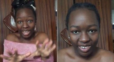 Kenyan vlogger Elsa Majimbo in one of her Instagram videos in 2020