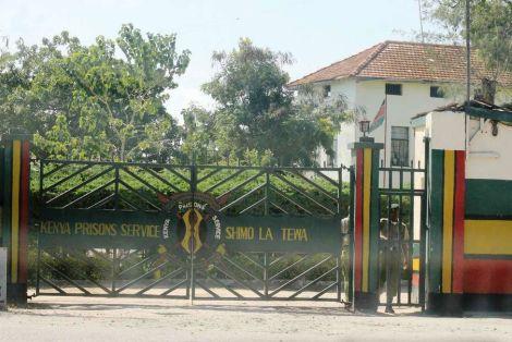 Entrance area of Shimo la Tewa prison in Kilifi.