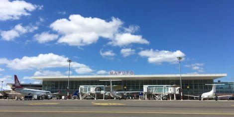 Entrance to Maputo International Airport.