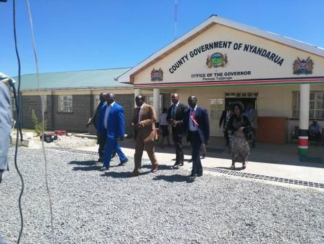 Entrance to Nyandarua County Government offices.