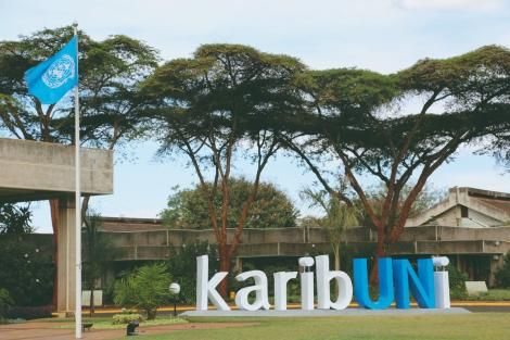 Entrance to United Nations offices in Nairobi