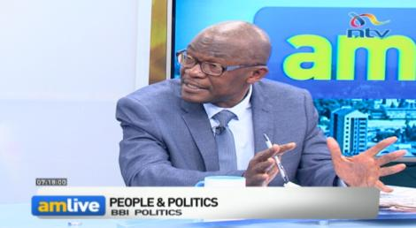Eseli Simiyu speaks during a discussion on AMLive NTV on December 10, 2019.