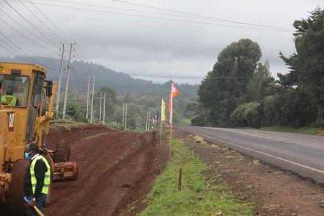 Expansion of the Kenol, Sagana, Nyeri highway.