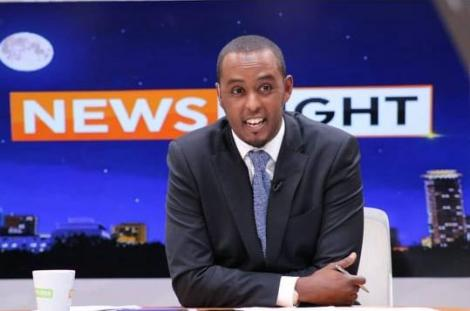 Former Citizen TV anchor Hussein Mohammed at the station's studios in Nairobi.