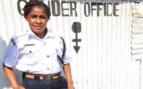 Fridah Mwema, a police officer at Tigoni Police Station, Kiambu County