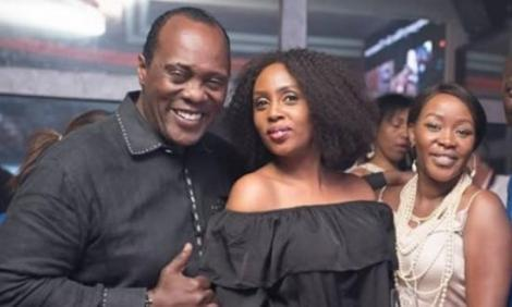 From left, Jeff Koinange, Monica Kiragu and Terryanne Chebet strike a pose.