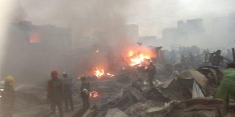 Gikomba Market fire. June 25, 2020.