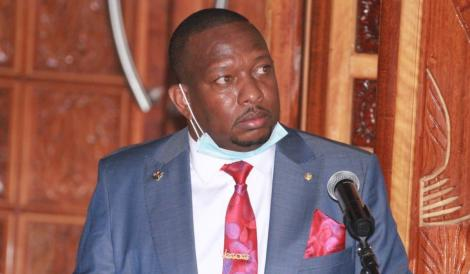 Former Nairobi Governor Mike Mbuvi Sonko when he appeared before the senate during a hearing of his impeachment motion on December 17, 2020.
