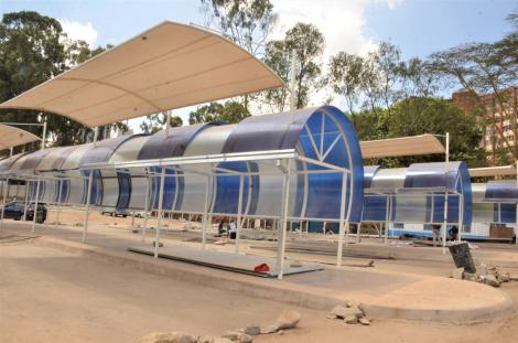 An image of a bus terminus