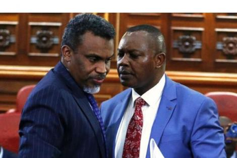 DPP Noordin Haji and DCI George Kinoti in Parliament in 2019