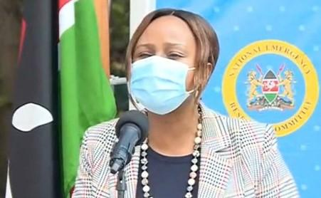 Health CAS Mercy Mwangangi addressing the media on June 22, 2020.