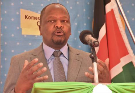Health Cabinet Secretary Mutahi Addressing the media from Kericho on August 10, 2020.