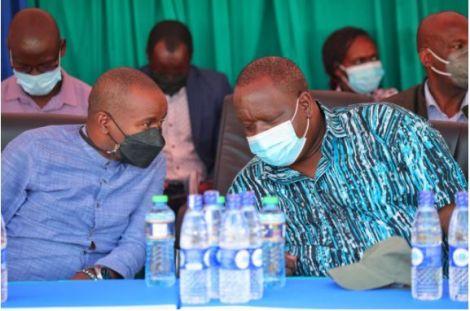 ICT CS Joe Mucheru and Interior CS Fred Matiang'i During a Fund Drive Event in Kajiado.