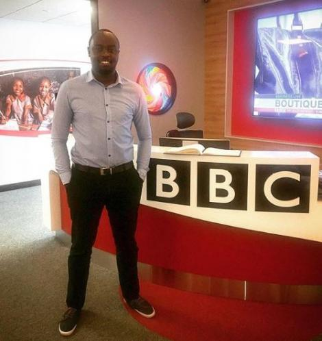 Journalist Ian Wafula at the BBC East Africa Bureau in Nairobi on August 1, 2018.