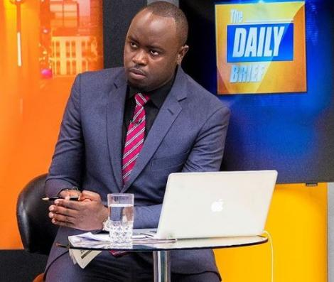 Ian Wafula Hosting the Daily Brief at K24 on April 12, 2018.