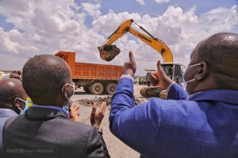 Home Secretary Fred Matiang'i and CS ICT Joe Mucheru presided over the groundbreaking ceremony for the state-of-the-art Security Command Center