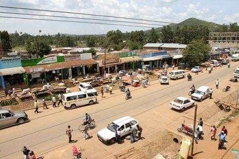 Isibania Town on the Kenya-Tanzania border.