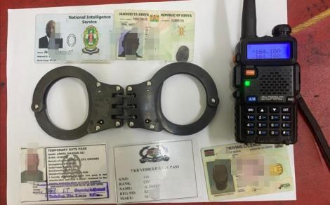 An image of recovered Items by DCI