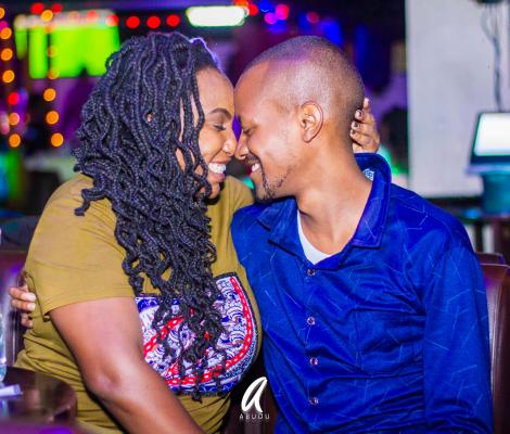 Comedian JB Masanduku and his wife Jackie Karanja
