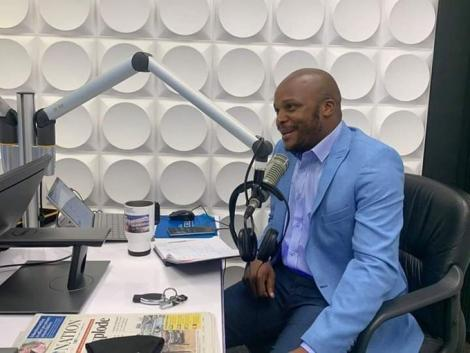 Radio presenter Jalang'o pictured at Kiss FM studios on July 13, 2020