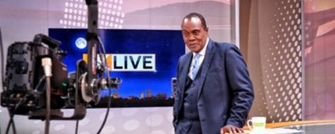 Citizen TV anchor Jeff Koinange at RMS Studios in September 2019