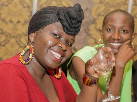 Churchill Show Comedians Jemutai (left) and Eunice Mamito.