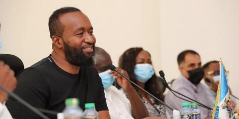Mombasa Governor Hassan Joho meeting the Senate Adhoc Committee on Covid-19 on September 2, 2020