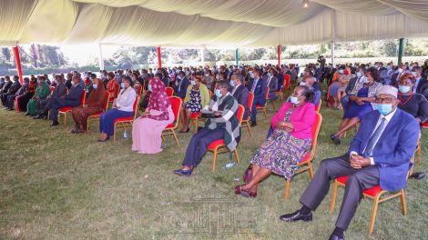 Jubilee Party legislators during a meeting at State House, Nairobi on June 6, 2020