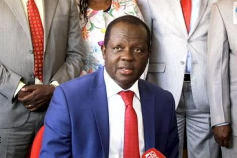 Jubilee Party Secretary-General Raphael Tuju during a press briefing on January 9, 2019.